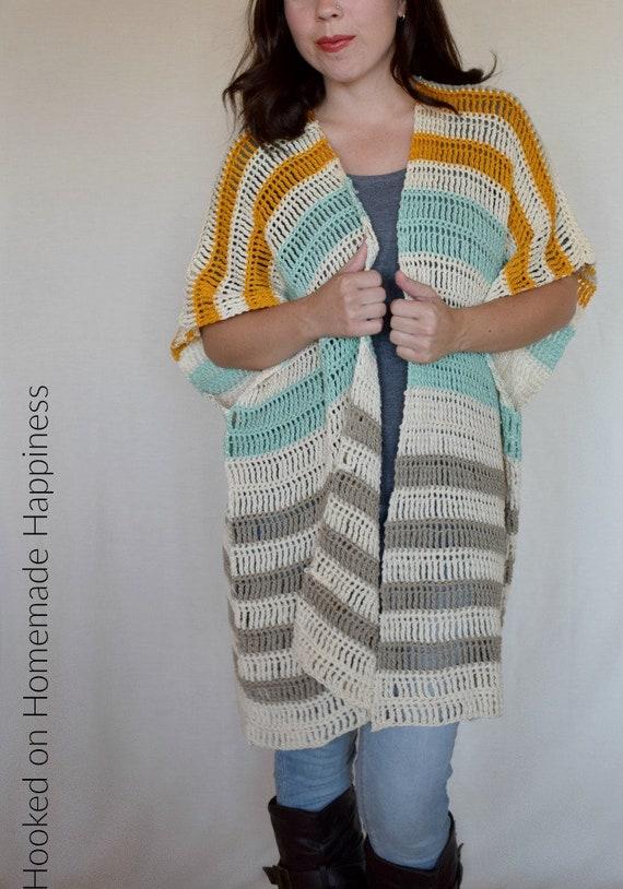 Crochet Cardigan Pattern Crochet Ruana Pattern Crochet Etsy