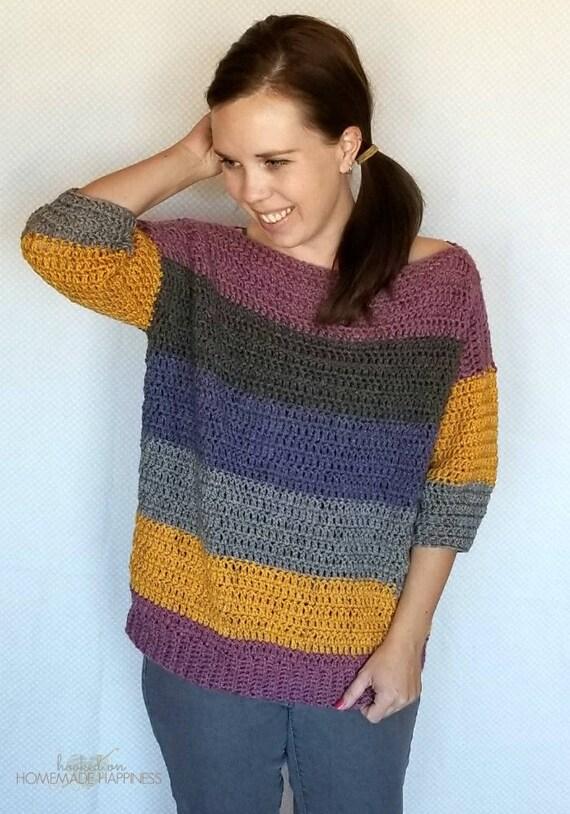 Crochet Sweater Pattern Easy Crochet Pattern Caron Cake Etsy