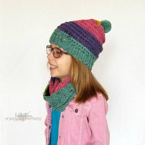 Crochet Hat And Scarf Pattern Beanie Crochet Pattern Etsy