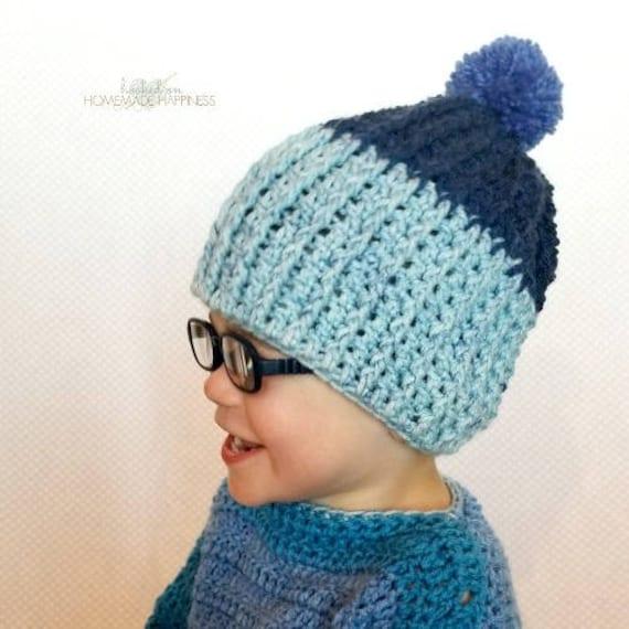 Ribbed Crochet Beanie PATTERN Easy Crochet Pattern  d087665fb00