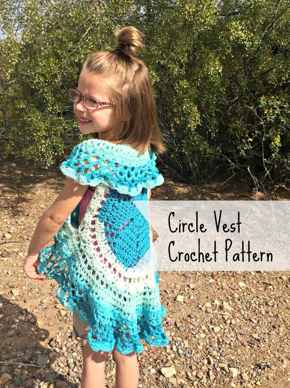 Circle Vest Crochet Pattern Crochet Top Pattern Girls Etsy