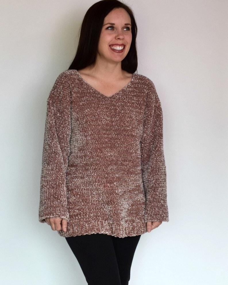 55111bab7 Crochet Sweater PATTERN Crochet Pullover Sweater Crochet
