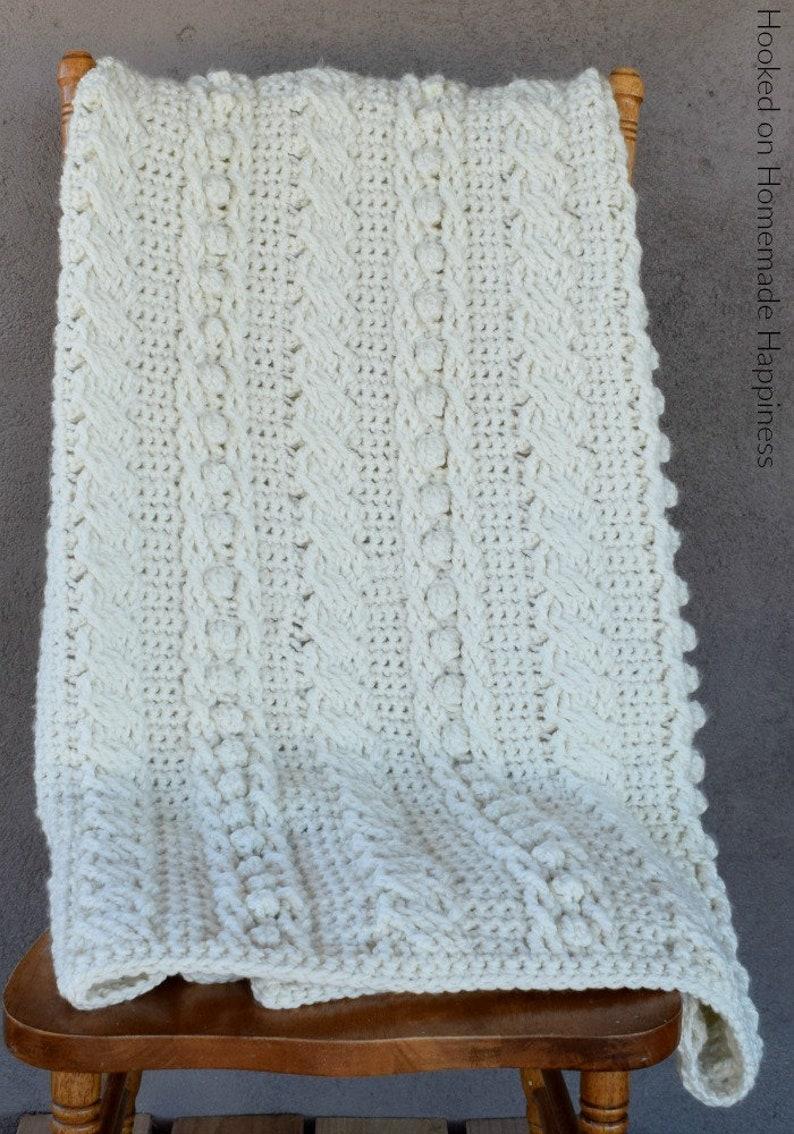 Crochet Blanket Pattern Chunky Crochet Blanket Pattern Etsy