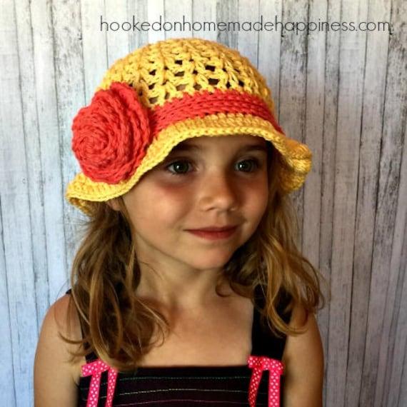 6927b308240 Crochet Summer Hat PATTERN Girls Hat Pattern Floppy Hat
