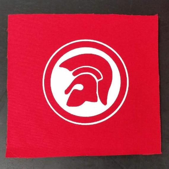 Trojan records patch set of 2 red and black reggae ska punk oi skinhead english beat 69 skin