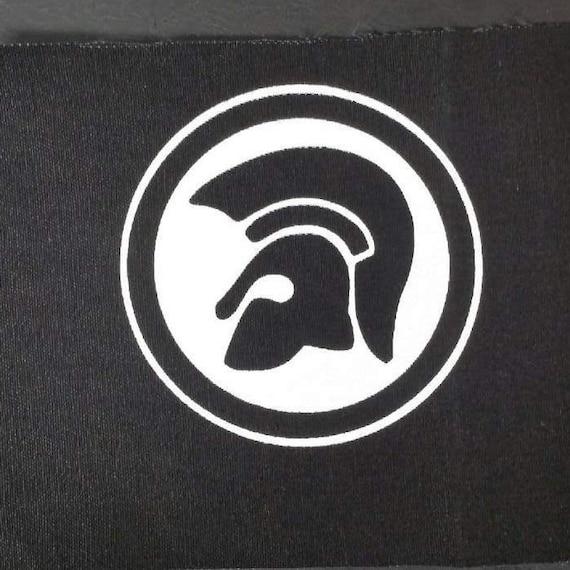 Trojan records patch hand made screen printed black fabric ska oi! reggae punk spirit of 69