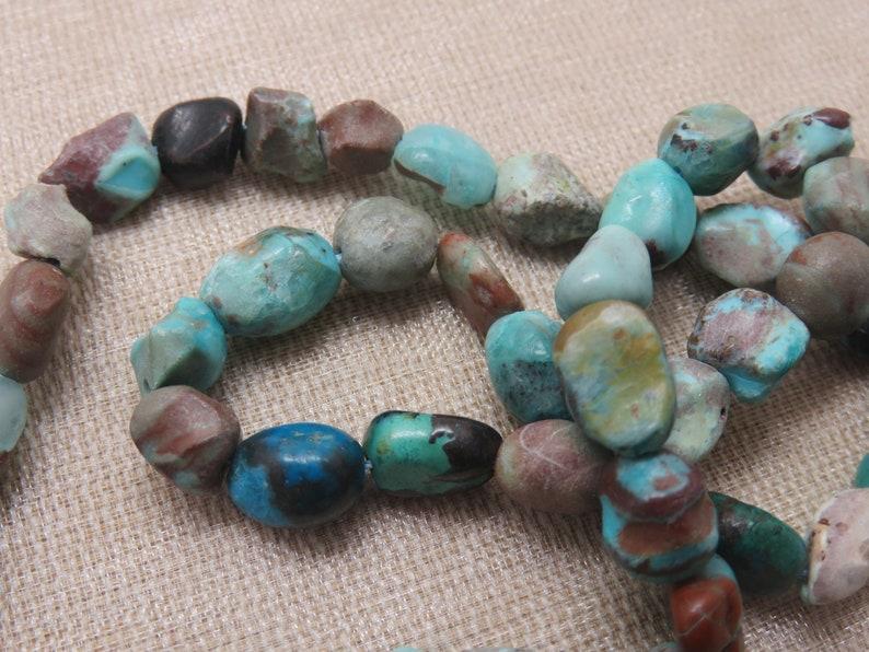 10 Irregular Phoenix Turquoise Pearls 5 to 10mm  set of 10 image 0