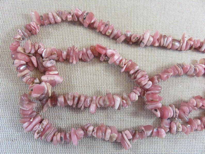 set of 25 Gem stone for making jewelry 25 Rhodochrosite irregular chips pearls