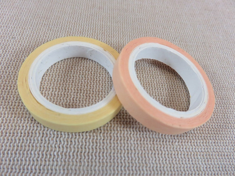 Washi tape pastel 6mm  length 3 meters  roll strip paper image 0
