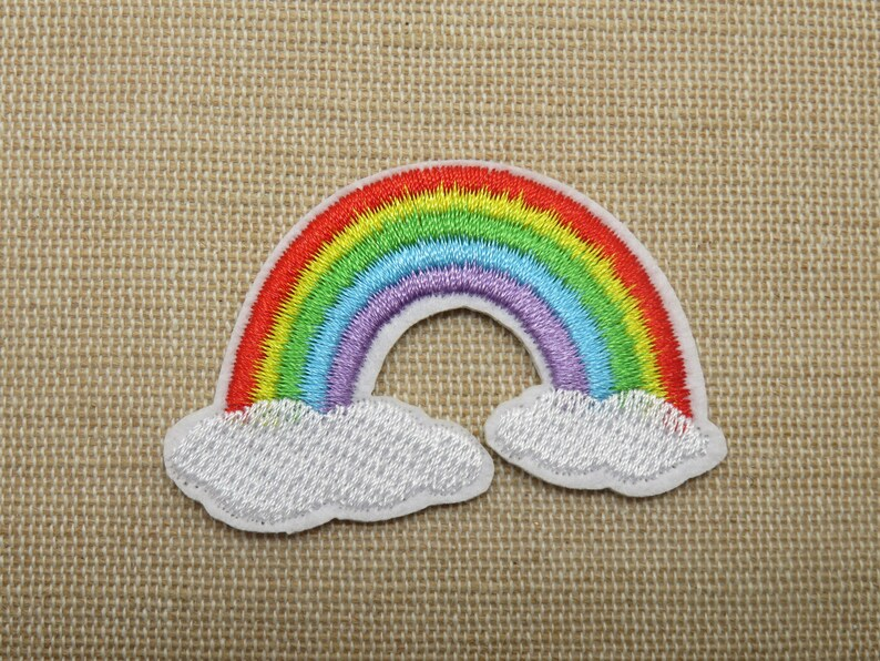 Rainbow thermostick patch  iron-applied crest  iron on image 0