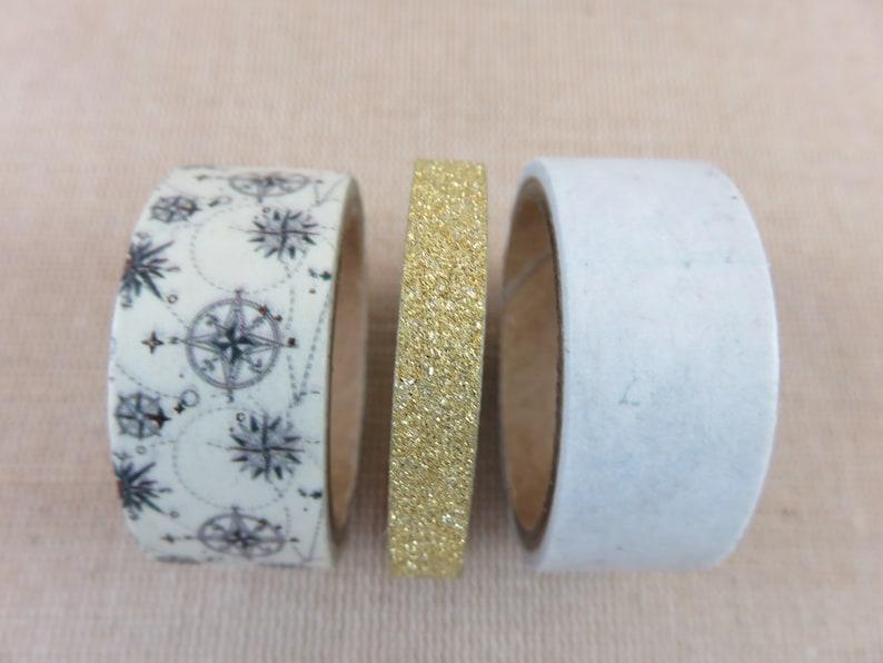 Washi tape tape adhesive tape length 3 meters  roll masking Lot 1