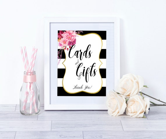 Cards And Gifts Sign Bridal Shower Ideas Gift Table Sign Etsy