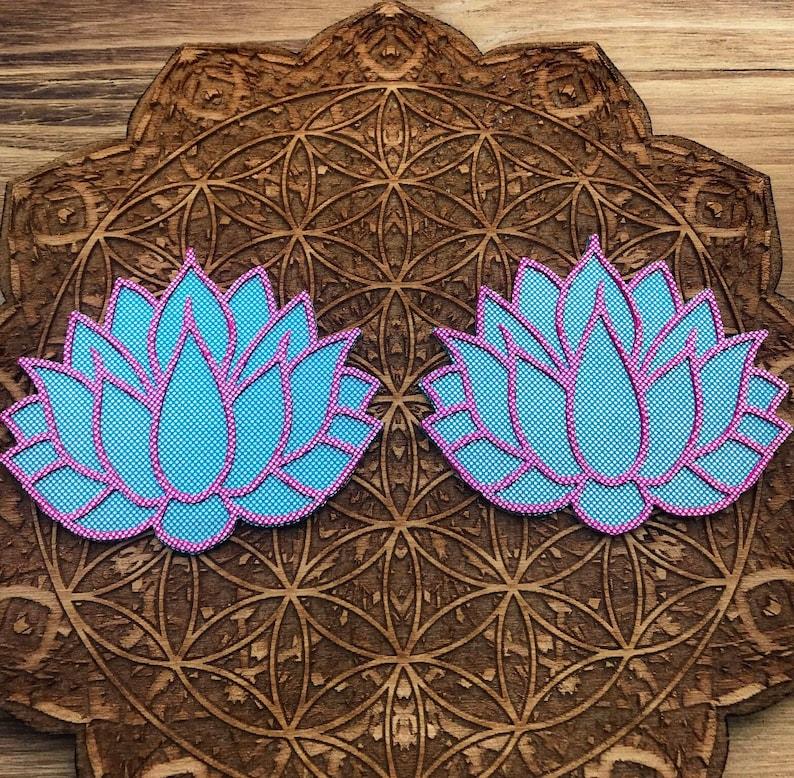 Blue /& Pink Holo Lotus