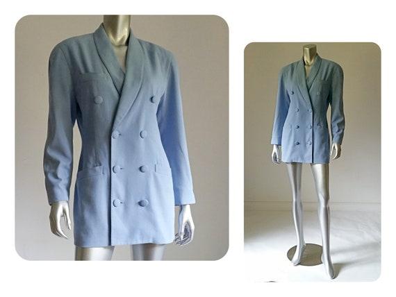 80s Blazer Shoulder Pad Spiegel Vintage Statement Jacket Etsy