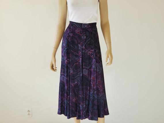 1990s Vintage Longline Skirt, Koret Midi Panel Ski