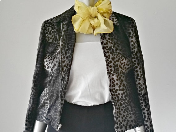 1990s Vintage Animal Print Zip Up Jacket, Leopard
