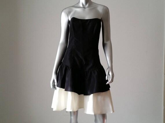 1980s Vintage Jessica McClintock Gunne Sax Black a