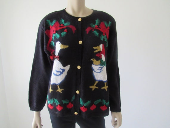 1990s Vintage Ugly Christmas Sweater, Jantzen Card