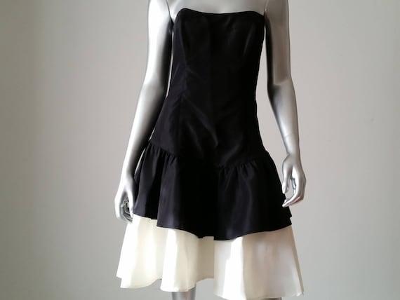 1980s Vintage Jessica McClintock Gunne Sax Black … - image 3