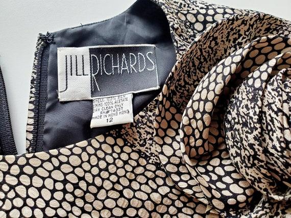 1980s Vintage Silk Tiered Ruffle Dress Long Puffy… - image 9