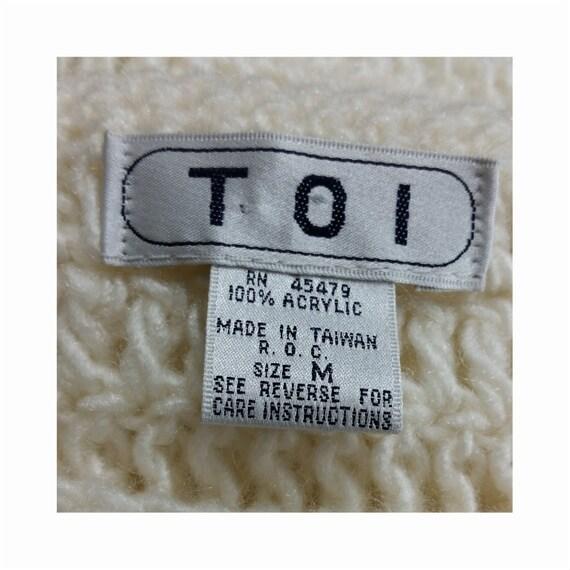 1980s Vintage Chunky Crochet Sweater Vest Intarsi… - image 10