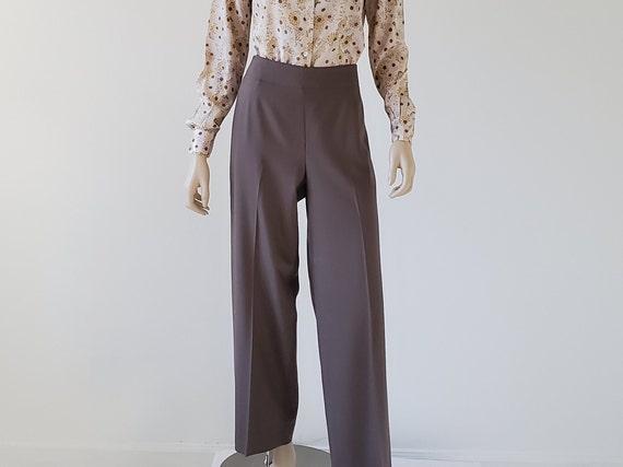 1990s Vintage Wide Leg Wool Pants, Talbots High Wa