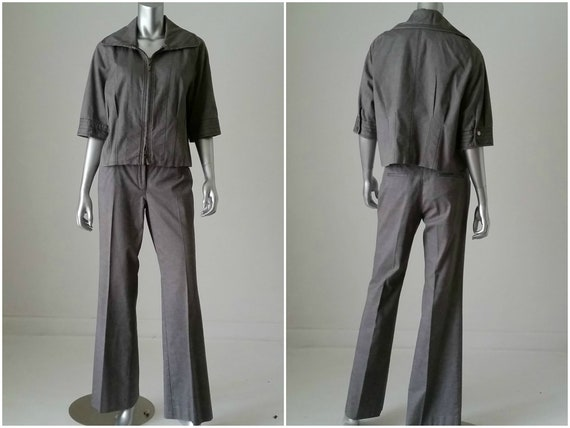 1980s Vintage Jacket and Pant Set, Kenneth Cole G… - image 1