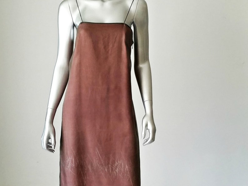 e4c59f61d164b 90s Silk Slip Dress Banana Republic Brown Silk Dress