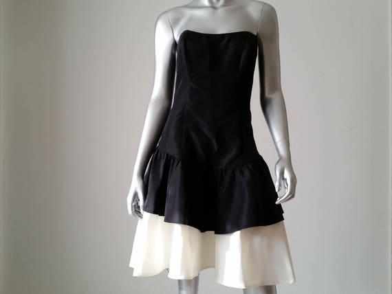 1980s Vintage Jessica McClintock Gunne Sax Black … - image 2