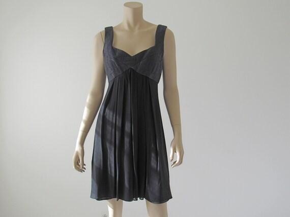 1990s Vintage Silk Chiffon Babydoll Dress, Donna R
