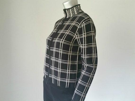 1990s Vintage Plaid Zip Up Jacket, Cropped Cardiga