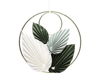 Origami Wreath x Paper Leaves / Paper Folding by Kozouf / Hanging Circle / Unique Decoration