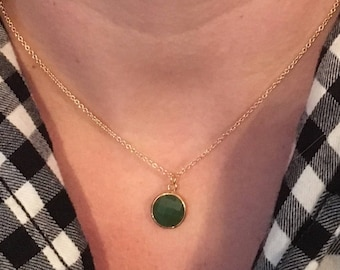 The Trinket Necklace - Emerald