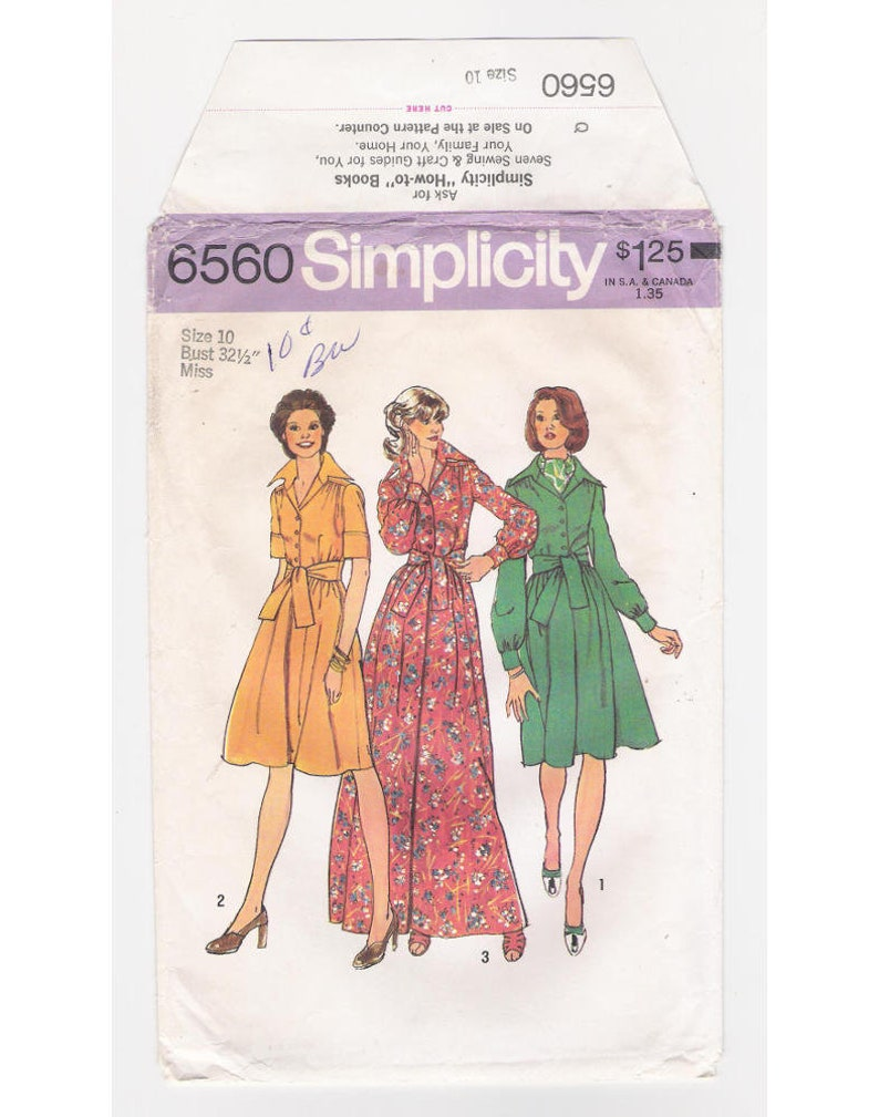 b0dc772b3 Vintage Simplicity women s maxi-dress pattern 6560