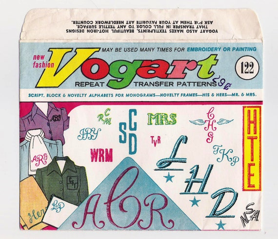 Vintage Vogart Repeat Transfer Patterns For Embroidery And Etsy