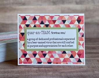QuaranTEAM Employee Appreciation Greeting Card | Employee Thank You Greeting Card | Quarantine Greeting Card | Quaranteam Greeting Card