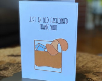 """Handmade """"Just an Old Fashioned Thank You"""" Greeting Card 