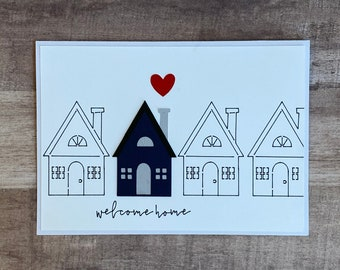 """Handmade """"Welcome Home"""" Greeting Card 