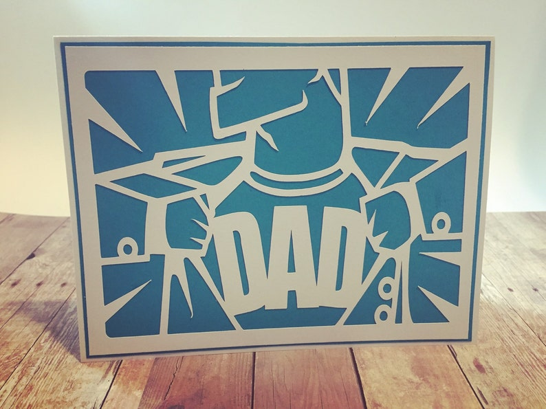 Handmade Super Dad Father's Day Greeting Card image 0