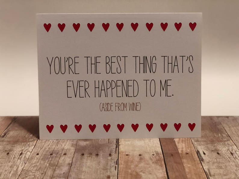 Naughty Valentine Greeting Card You're the best image 0