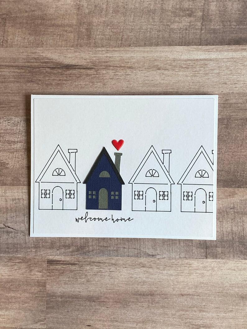 Handmade Welcome Home Greeting Card New Home image 0
