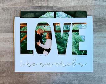 Handmade Wedding Thank You Photo Insert Card | Wedding Thank You Card | Photo Insert Card