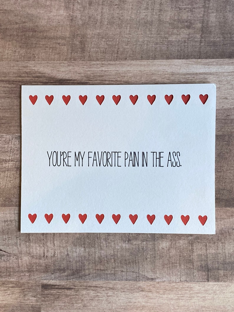 Naughty Valentine Love Card You're my favorite type image 0