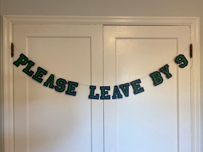 Party Please Leave By 9 banner  Please Leave by 9 image 0