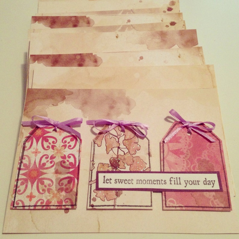 Handmade Let Sweet Moments Fill Your Day Greeting image 0