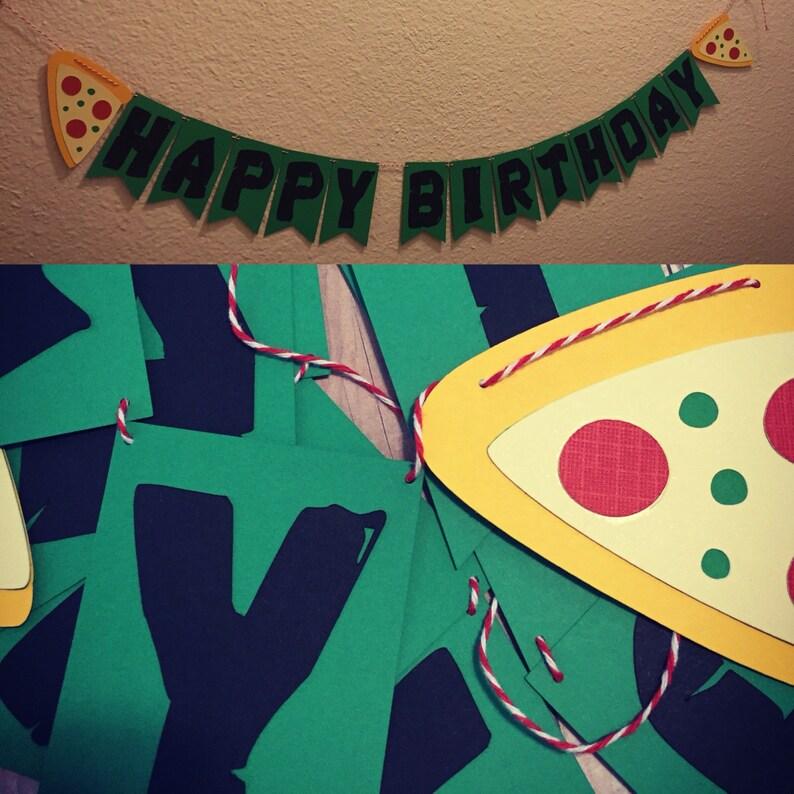 Handmade Teenage Mutant Ninja Turtle Themed Happy Birthday image 0