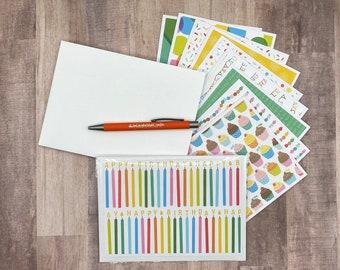 Set of 10 Handmade Blank Birthday Cards | Bulk Blank Birthday Cards