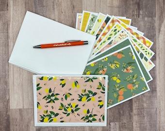 Set of 10 Handmade Blank Greeting Cards | Bulk Blank Greeting Cards