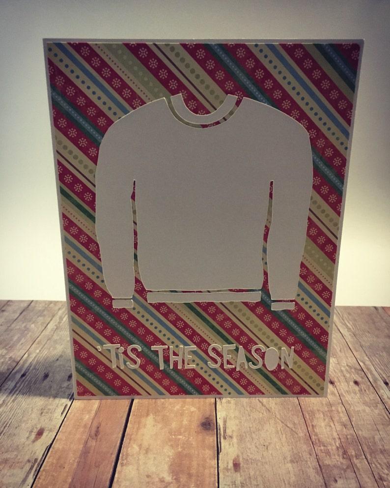 Handmade Tis The Season Ugly Sweater Christmas image 0
