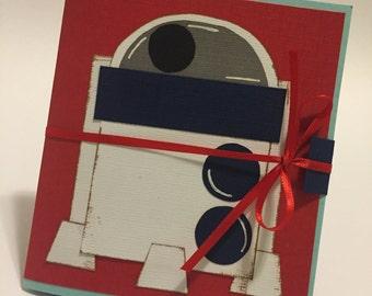 Handmade R2D2 Star Wars Gift Card Holder Card